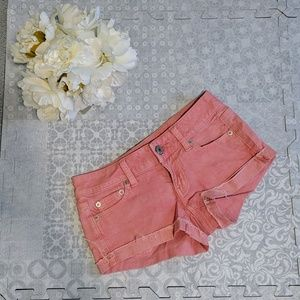 💛(3 for 30) Coral short shorts
